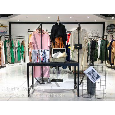 深圳原创女装品牌设计秋装长款蕾丝连衣裙货源批发市场