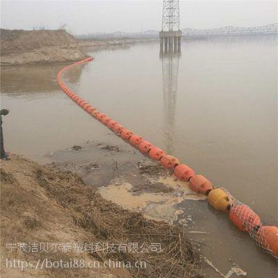 水库分水口自动拦污装置拦截塑料浮筒价格