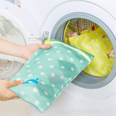【厂家直销】圆点长方形绣花护洗袋 加厚卡通衬衫毛衣洗护网袋