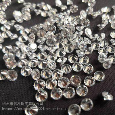 莫桑石碎钻厂家直销戒指项链镶嵌仿真钻厘石小钻副石人造钻石