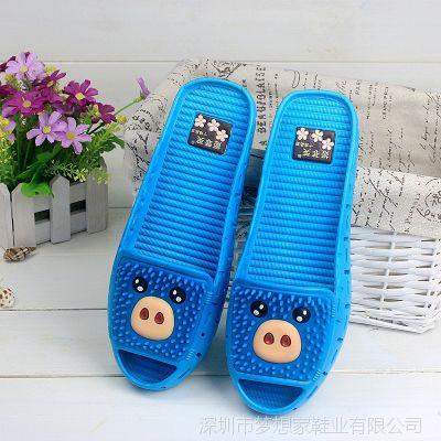 夏季时尚可爱小猪家居拖鞋女士凉拖鞋浴室拖卡通女式拖鞋