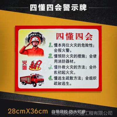 标牌 警示牌 标识牌 提示指示牌 四个能力警示牌 墙贴 一件起订