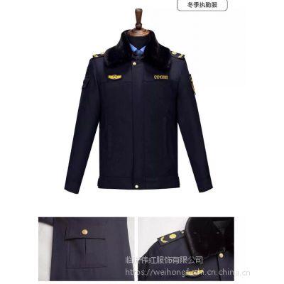 山东新式城管制服现货销售 城管标志服定做 城管冬执勤服订做