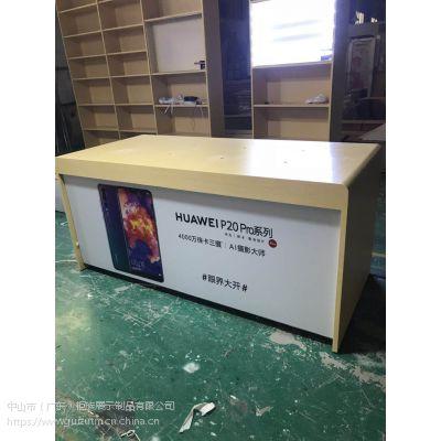 安徽合肥3.5木纹收银台,华为3.5中岛体验台高清图片