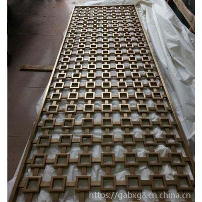 网状型不锈钢艺术屏风 新中式不锈钢装饰隔断定做 福建厂家定制
