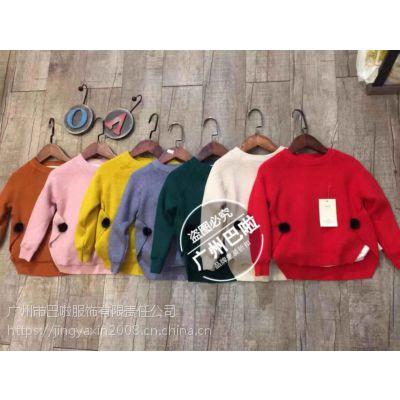 广州厂家低价清仓特价处理品牌童装尾货批发时尚韩版毛衣