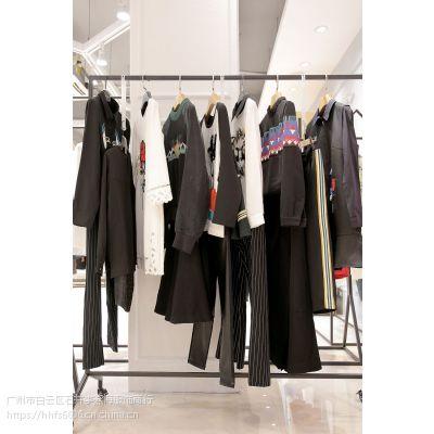伊袖广州品牌折扣时尚女装批发 品牌折扣女装有那些尾货酒红色休闲套装