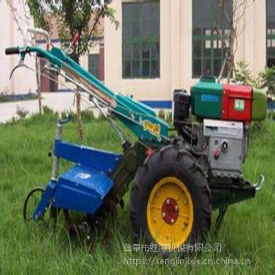 水旱两用手扶拖拉机 12马力果园旋耕机 小型农用手扶车