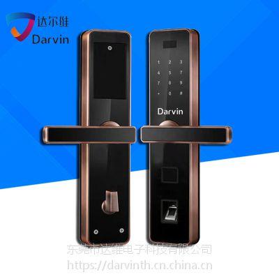 达尔维指纹锁家用防盗门锁智能电子锁密码锁刷卡锁定制批发厂家