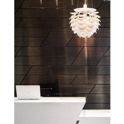 波浪板专业定制黑现代风格抽象乱拼时尚背景墙装饰板波浪板