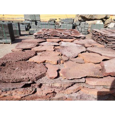河北本诺厂家供应 火山石板岩 天然火山石板材 黑色自然面板材 不规则板岩