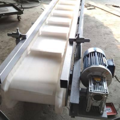 现货皮带输送机经销商包胶滚筒 液压升降箱装蔬菜装车输送机