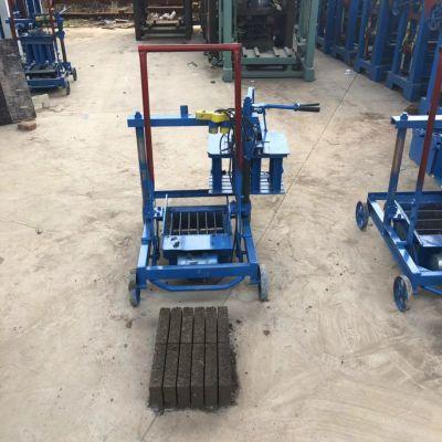 垣华2-45小型移动免烧水泥砖机 家用两相电下蛋砖机