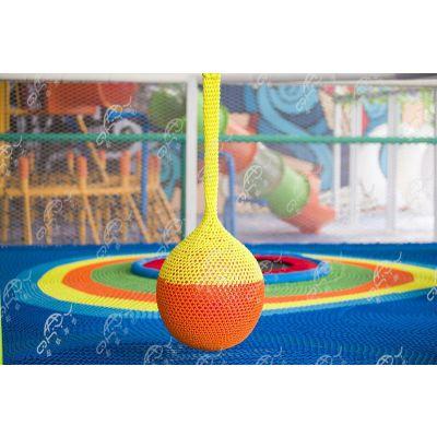 新型游乐设备 绳网蹦床 起航游艺 淘气堡 彩虹绳网
