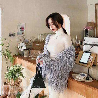 哥弟郑州品牌折扣女装批发 女装品牌折扣店怎么加盟尾货棕色皮衣