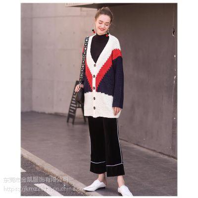 女装针织衫开衫毛衣加工厂