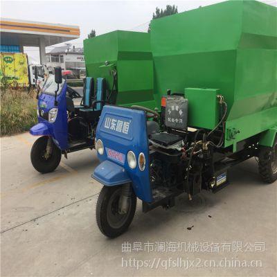 牧场全自动撒料车 移动式给料车 专用饲料撒料车 效率高