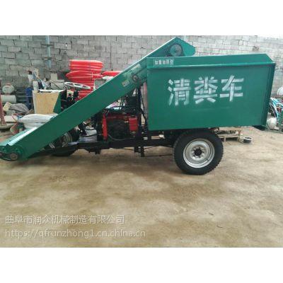 重型链条刮板上料清粪车 粪便运输设备3立方 牛栏粪便清粪车