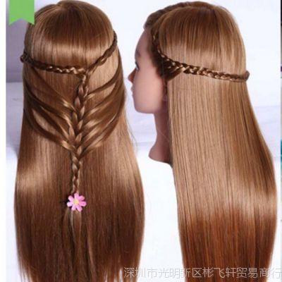 美女假发模型头模头练习头教习头理发店假人头练手编发长发柔顺
