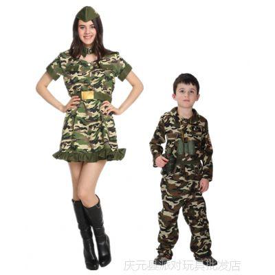 COS亲子装特种部队服装迷彩战士服万圣节化妆舞会服装B-0047