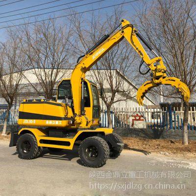 买一台90轮式抓木机价格 国产轮式挖掘机 国三排放轮挖