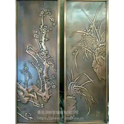 别墅大门锻铜浮雕装饰画 高档洋房锻铜浮雕壁画