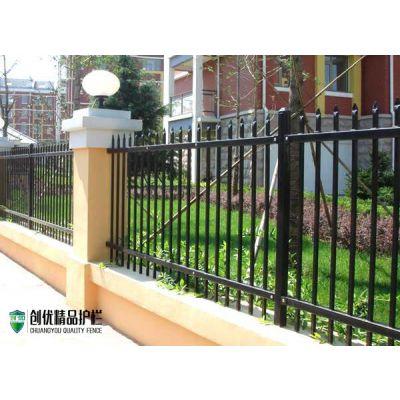 学校铁栅栏铁艺围栏锌钢护栏现货供应别墅工厂社区围墙护栏