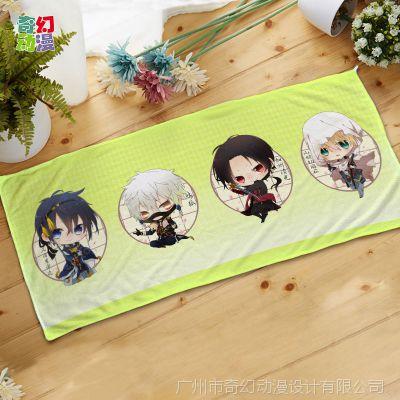 动漫周边创意来图定制 日本动漫毛巾印刷定做 超细纤维印花浴巾