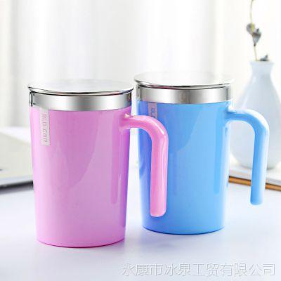 创意带手柄礼品水杯不锈钢咖啡杯日用百货杯子礼品定制logo批发