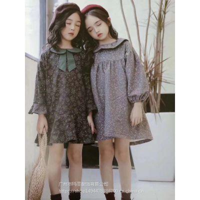 广州童装批发 18新款女童时尚百搭卫衣 中小童冬装批发