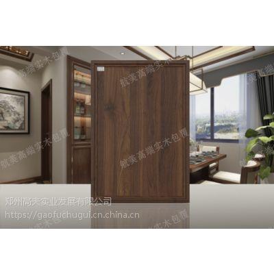 五合一橡胶木实木包覆门板厂家-郑州航美实木包覆有多少种颜色-24000平的橱柜衣柜定制代工厂-无台面