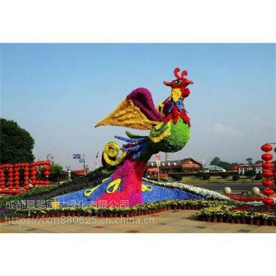 凤舞九天植物造型 凤凰涅槃植物造型 成都雕塑厂家
