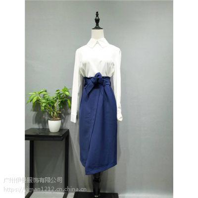 广州伊曼服饰品牌折扣批发,依袖女装品牌尾货走份