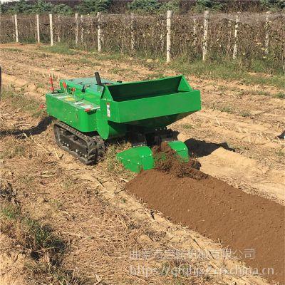 多功能旋耕起垄机批发 履带式开沟机 低矮果园开沟回填机