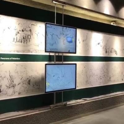 移动电视墙滑轨 鸿光科技 互动电视墙滑轨系统 12米电视墙滑轨