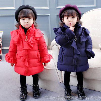 2017女宝宝冬装棉袄0女童1加厚2棉衣3岁婴幼儿童装韩版外套潮新款