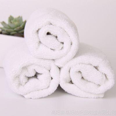 磊烁毛巾 纯棉40g白方巾 酒店宾馆专用吸水巾定制礼品 毛巾批发