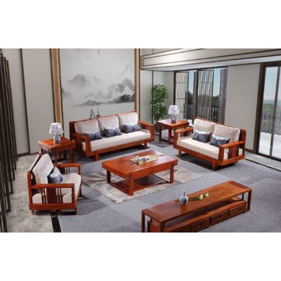 刺猬紫檀新中式小客厅沙发红木家具软体沙发 厂家批发