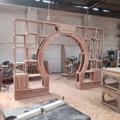 成都古典中式定制家具 成都天成中式家具 明清仿古家具 博古架月洞门 葫芦形状