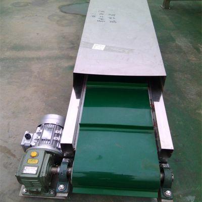 PVC带水平输送机铝型材皮带机价格行走式 美观上料机