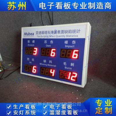 苏州琳卡电子看板SMT车间工序时间质量控制生产看板系统