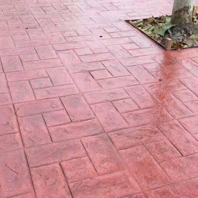 彩色压花地坪施工 山东 临沂 地区材料配送 技术指导