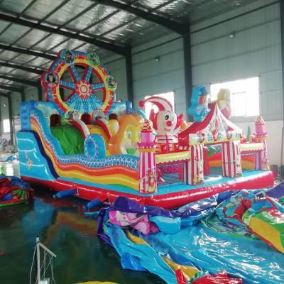 室内外大型充气玩具淘气堡游乐设备景区商场充气蹦蹦床大滑梯