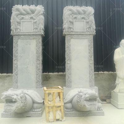 石雕龙龟赑屃驮石碑 墓地陵园纪念碑 寺庙园林装饰