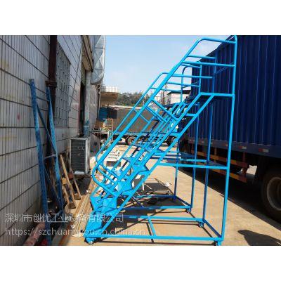 装配车间员工登高理货梯 供应注塑机旁上下料梯 重庆机器设备维修登高平台