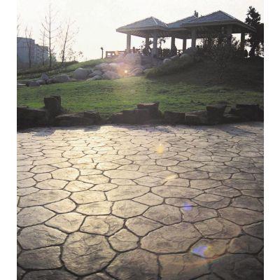 潍坊寿光景观路面 艺术压花地坪商品混凝土装饰地坪 亚斯特