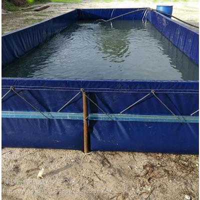 大棚室内养殖PVC3*3帆布鱼池蓄水池布防晒防雨加厚养鱼池定做 大型帆布水池