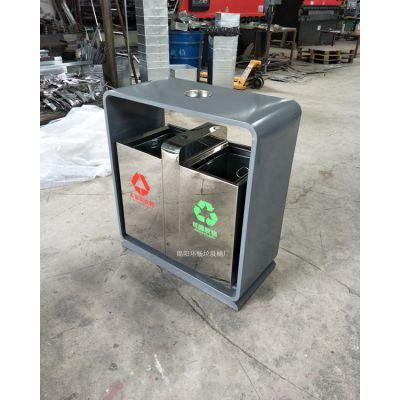 不锈钢高档垃圾桶 环畅户外垃圾桶供应 不锈钢新款垃圾桶图片