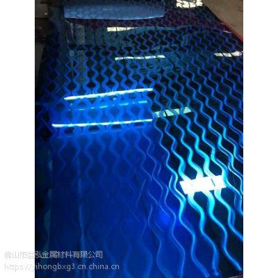 益泓供应304宝石蓝镜面不锈钢板 真空镀8K宝石蓝不锈钢板