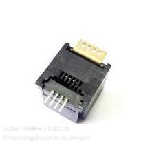供兴伸展电子4P4C专业贴片式SMT RJ11 JACK插座 4P4C rj11jack插座